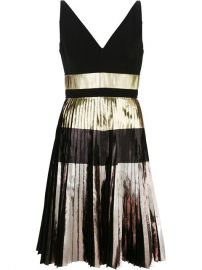Proenza Schouler Pleated Metallic Dress at Farfetch