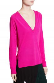Proenza Schouler Plunging V-Neck Merino Wool Sweater at Nordstrom
