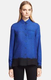 Proenza Schouler Print Silk Georgette Shirt at Nordstrom