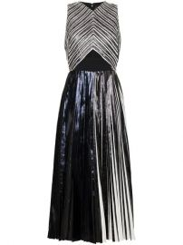 Proenza Schouler Re Edition Pleated Foil Dress - Farfetch at Farfetch