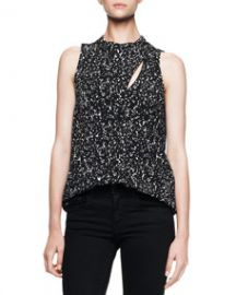 Proenza Schouler Sleeveless Printed Overlap Blouse at Neiman Marcus