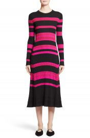 Proenza Schouler Stripe Cashmere  Wool   Silk Midi Dress at Nordstrom