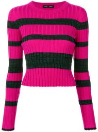 Proenza Schouler Striped Rib Knit Crewneck at Farfetch