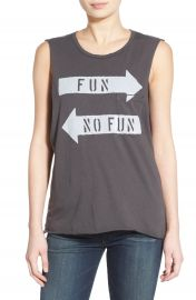 Project Social T   x27 Fun  No Fun  x27  Graphic Tank at Nordstrom