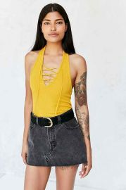 Project Social T Lace-Up Halter Top at Urban Outfitters