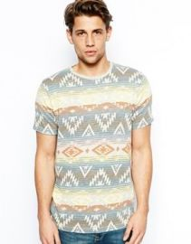 Pull and Bear Aztec Printed Tshirt at Asos
