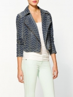 Punched moto jacket by Free People at Piperlime at Piperlime