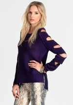 Purple arm cutout sweater from Threadsence at Threadsence