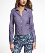 Purple button up top from Express at Express
