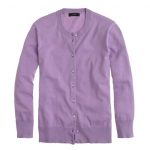 Purple cardigan from Jcrew at J. Crew