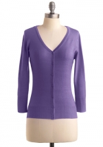 Purple cardigan like on New Girl at Modcloth