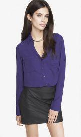 Purple convertible shirt at Express