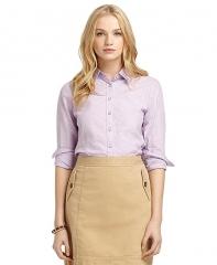 Purple dot shirt at Brooks Brothers