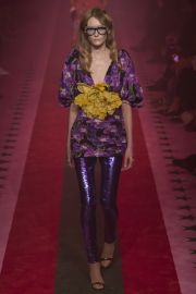 Purple floral dress at Vogue