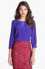 Purple keyhole blouse by Kate Spade at Nordstrom