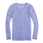 Purple long sleeve tee at J Crew at J. Crew