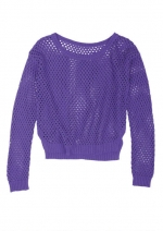 Purple mesh pullover from Delias at Delias
