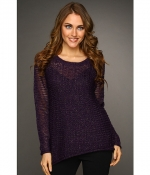 Purple mesh sweater by DKNY at 6pm