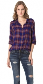Purple plaid shirt like Lilys at Shopbop