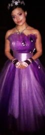 Purple tulle dress with butterflies at Mandi Line