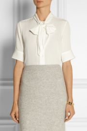 Pussy Bow Blouse by Marc Jacobs at Net A Porter