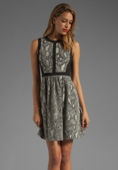Python fit and flare dress by Rebecca Taylor at Revolve