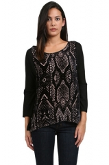 Python print blouse by Rebecca Taylor at Couture Candy