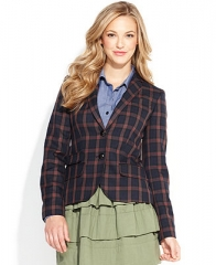 QMack Jacket Long-Sleeve Plaid Blazer - Women - Macys at Macys