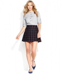 QMack Skirt Plaid Pleated A-Line - Women - Macys at Macys