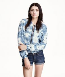 Quilted Jacket in Denim Blue at H&M