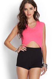 Quilted Pointy Crop Top  Forever 21 - 2000066980 at Forever 21