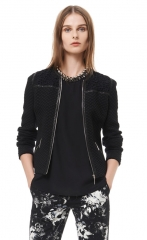 Quilted and Lace Jacquard Jacket at Rebecca Taylor