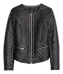 Quilted leather jacket at H&M