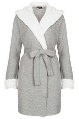 Quilted robe at Topshop