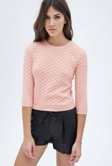 Quilted sweater at Forever 21