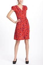 Bernadette's red dress from Anthropologie at Anthropologie