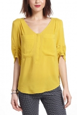 Quinns yellow top from Anthropologie at Anthropologie