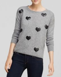 Quotation Sweater - Bloomingdaleand039s Exclusive Leather Heart Cashmere at Bloomingdales