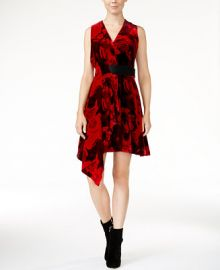 RACHEL Rachel Roy Draped Velvet Fit   Flare Dress  Only at Macy s at Macys