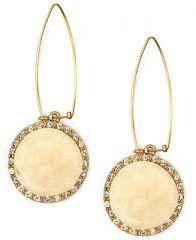RACHEL Rachel Roy Earrings Ivory Druzy Linear Drop Earrings - Fashion Jewelry - Jewelry and Watches - Macys at Macys