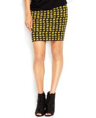 RACHEL Rachel Roy Geometric-Print Body-Con Knit Skirt - Women - Macys at Macys