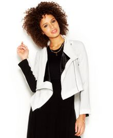 RACHEL Rachel Roy Long-Sleeve Colorblocked Cropped Jacket at Macys