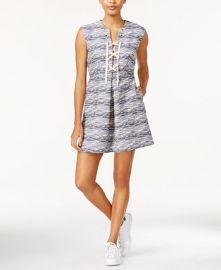 RACHEL Rachel Roy Printed Lace-Up Dress x at Macys