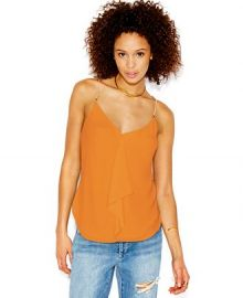 RACHEL Rachel Roy Sleeveless Chain-Detail Blouse in Orange at Macys