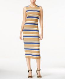 RACHEL Rachel Roy Striped T-Shirt Midi Dress at Macys