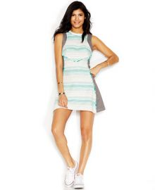 RACHEL Rachel Roy Tweed Combo Dress at Macys
