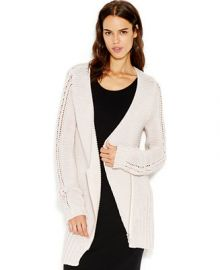 RACHEL Rachel Roy Waffle-Knit Shawl Collar Cardigan at Macys