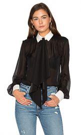 RACHEL ZOE Bex Silk Blouse in Black from Revolve com at Revolve