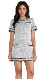 RACHEL ZOE Riley Tweed Dress in Black and Winter White  REVOLVE at Revolve