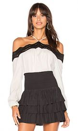 RAMY BROOK Sandy Top in Soft White  amp  Black from Revolve com at Revolve